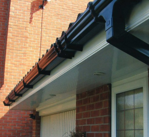 Repaired guttering
